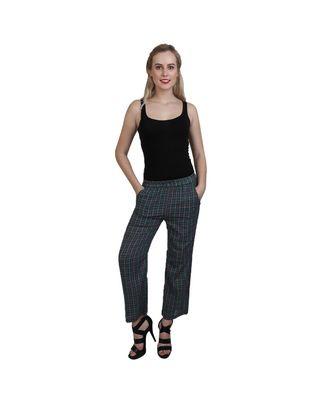 green plain Cotton trousers