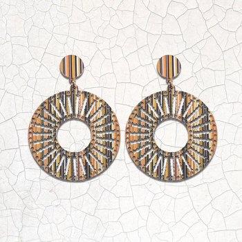 Beautiful Stylish Wooden Light Weight Dangler Earrings for Girls and Women.