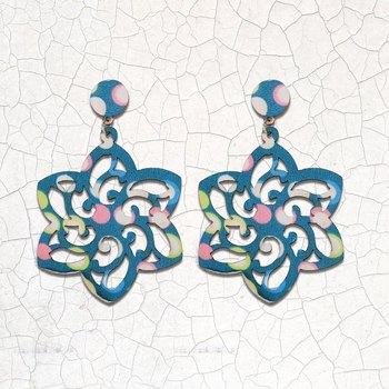 Stylish Dangler Wooden Earrings  Light Weight For Girls and Women