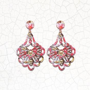 Handmade Designer Wooden Light Weight Earrings for Girls and Women.