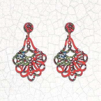 Charm Dangler Wooden Earrings For Girls and Women