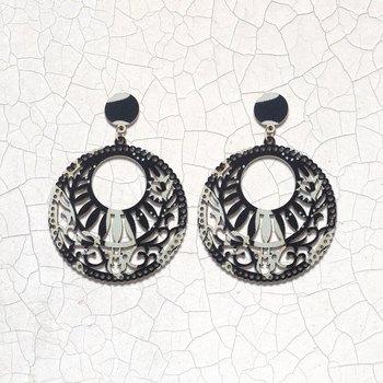 Ethnic Party Wear Dangler Wooden Earrings For Girls and Women