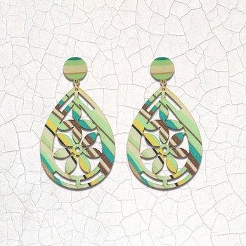 Delicate Natural Wooden Dangler Light Weight Earrings for Girls and Women.