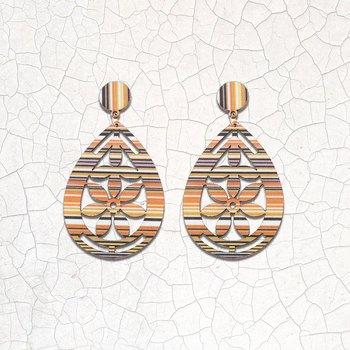 Elegant Designer Light Weight Dangle Wooden Earrings for Girls and Women.