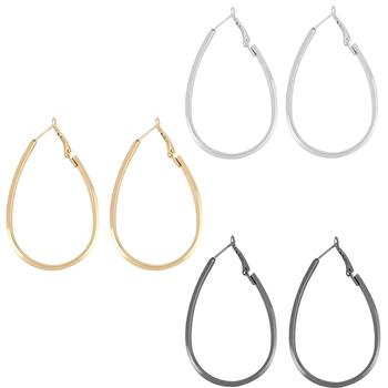 Elegant Silver Gold Black Earring Combo For Women Girl.