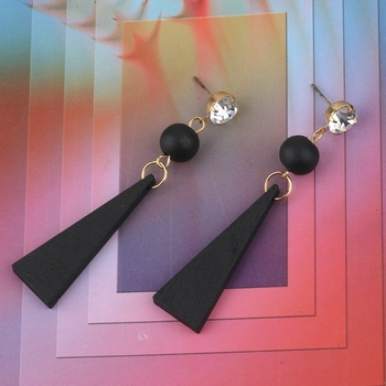 Exclusive Diamond Wooden Earrings Long Dangler Light Weight for Girls and Women.