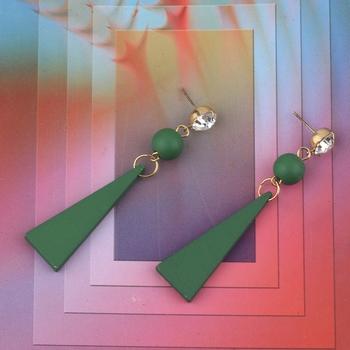 Beautiful Stylish Diamond  Wooden Light Weight Dangler Earrings for Girls and Women.