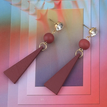 Antique Wooden Dangler Diamond  Earrings Perfect and Different Look for women girl.