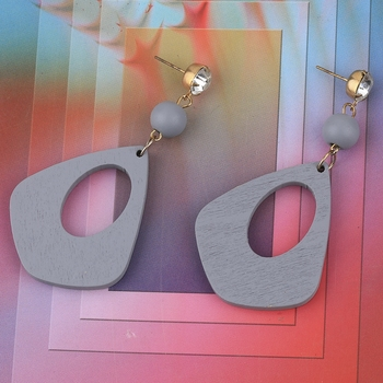 Party Wear Dangler Diamond Wooden Earrings For Girls and Women