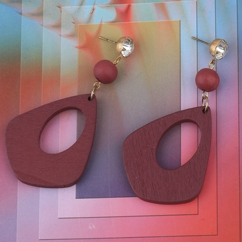 Attractive  Diamond Wooden Light Weight Earrings for Girls and Women.