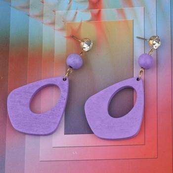 Charm designer Diamond Wooden Light Weight Dangler Earrings For Girls and Women