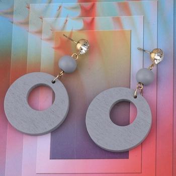 Handmade Designer Diamond Wooden Light Weight Earrings for Girls and Women.