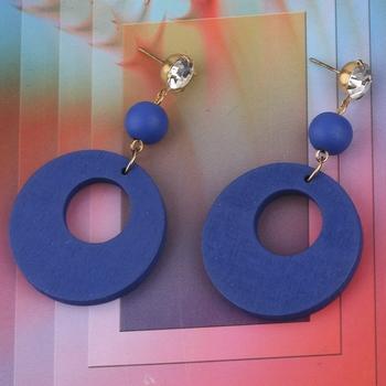 Charm Dangler  Diamond Wooden Earrings For Girls and Women
