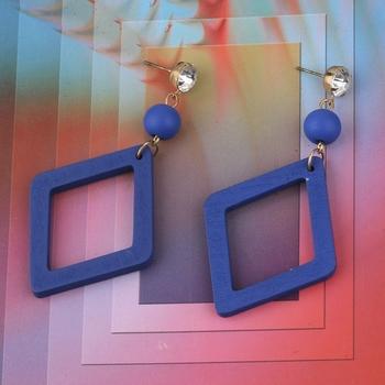 Exclusive Dangler Diamond  Wooden Earrings For Girls and Women
