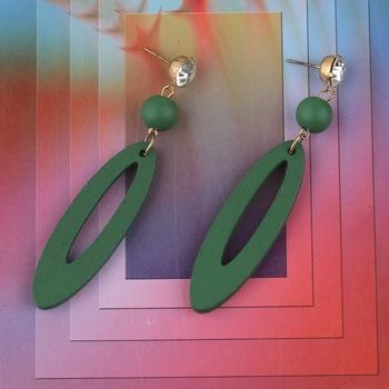 Delicate Natural Wooden Dangler Earrings for Girls and Women.