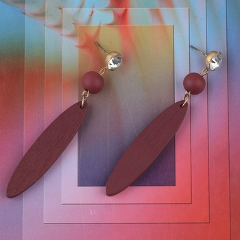 Party Wear Dangler Wooden Earrings For Girls and Women