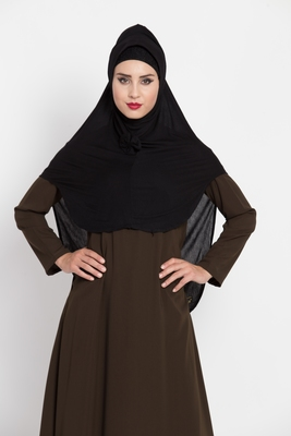 Black Designer Jersey Hijab