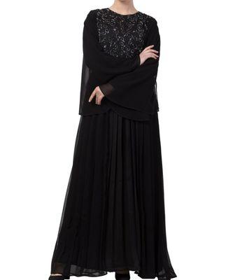 Black nida  Abaya Dress For Special Occasions