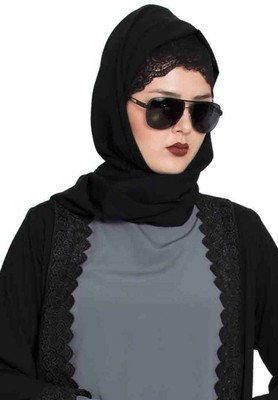 Long And Wide Stole Hijab made of Soft and Super Fine Georgette