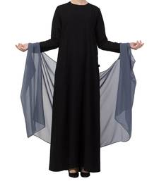 Grey Georgette Ready To Wear Hijab