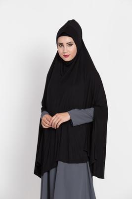 Black Full Size Prayer Hijab.