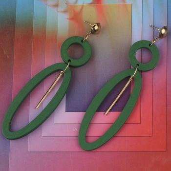 Stylish Designer Light Weight Wooden Earrings For Girls and Women