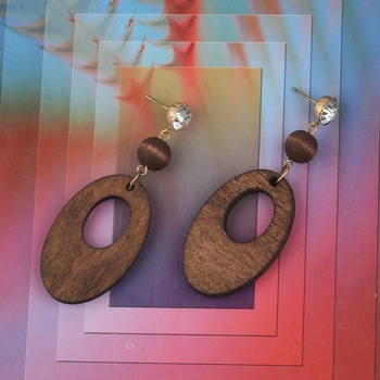 Attractive Wooden Light Weight Earrings for Girls and Women.