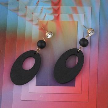Exclusive Wooden Earrings Long Dangler Light Weight for Girls and Women.
