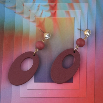 Antique Wooden Dangler Earrings Perfect and Different Look for women girl.