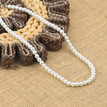 White Pearl Mala With Natural Pearl For Girls And Women