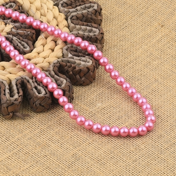 Pink Pearl Mala With Natural Pearl For Girls And Women