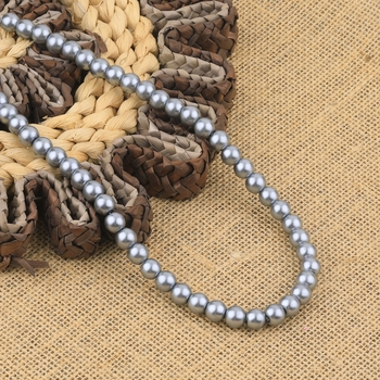 Grey Pearl Mala With Natural Pearl For Girls And Women