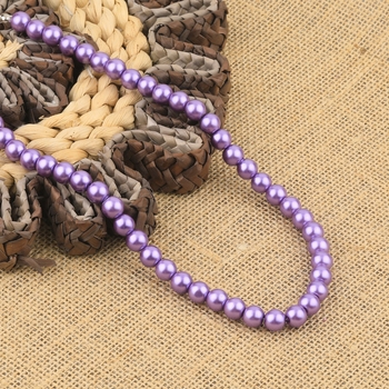 Purple Pearl Mala With Natural Pearl For Girls And Women