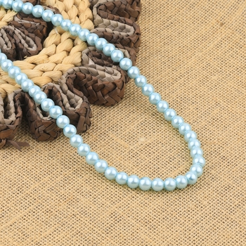 Sky Blue Pearl Mala With Natural Pearl For Girls And Women
