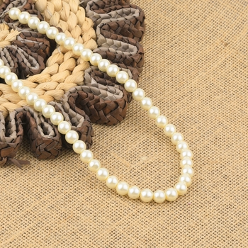 Off White Pearl Mala With Natural Pearl For Girls And Women