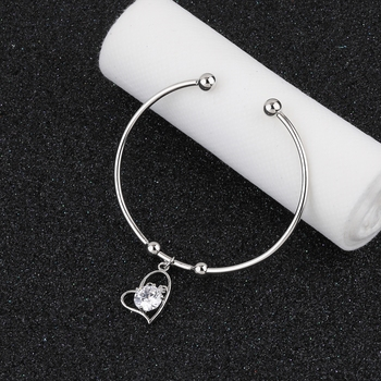 Delicated Adjustable Heart Shape Bracelet With Daimond For Women Girls