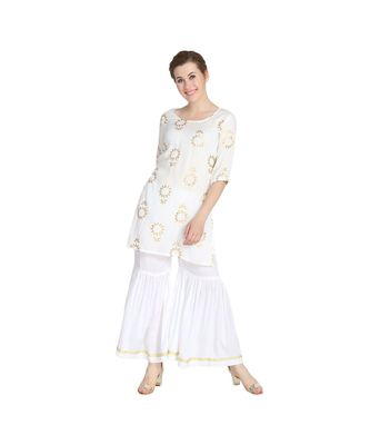Ethnic Kurti with Sharara Set