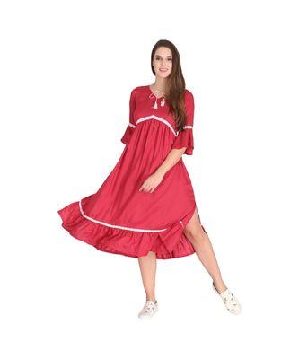 Stylish Rayon Lace Kurta Dress