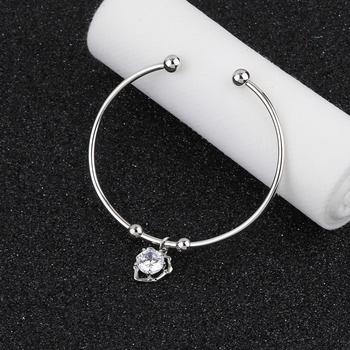 Party Wear Delicate Look Adjustable Bracelet With Diamond For Women Girls