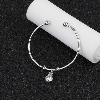 Charm Stylish Look Adjustable Bracelet With Diamond For Women Girls