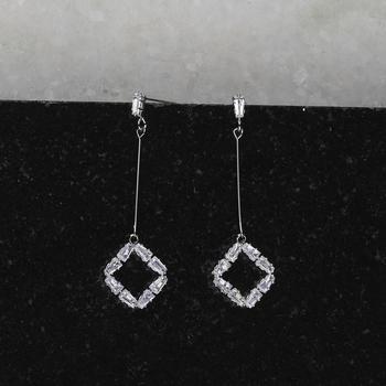 Silver Plated Charm Diamond Dangle Earring For Women Girl