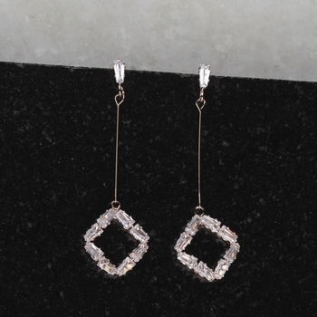 Rose Gold Fashion Diamond Dangle Earring For Women Girl