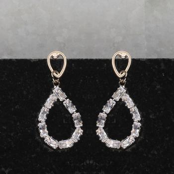 Rose Gold Antique Diamond Stud Earring For Women Girl