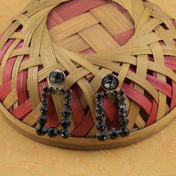 Exclusive Delicated Patry Wear Black Diamond Earring For Women Girl