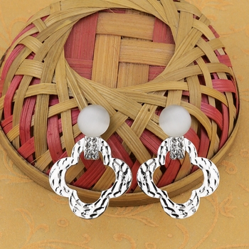 Silver Plated Charm Party Wear Drop Earring For Women Girl