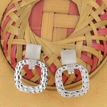 Fashion Silver Plated Diamond Dangle Earring For Women Girl