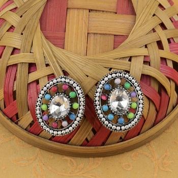 Party Wear Multi Colour Stud Earring For Women Girl