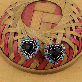 Stylish Heart Shape Diamond Stud Earring For Women Girl