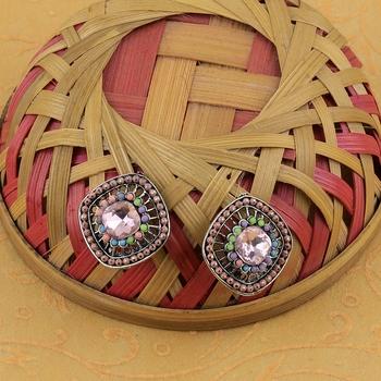 Fancy Party Wear Multi Colour Stud Earring For Women Girl