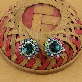 Fancy Party Wear Multi Colour Stud Diamond Earring For Women Girl